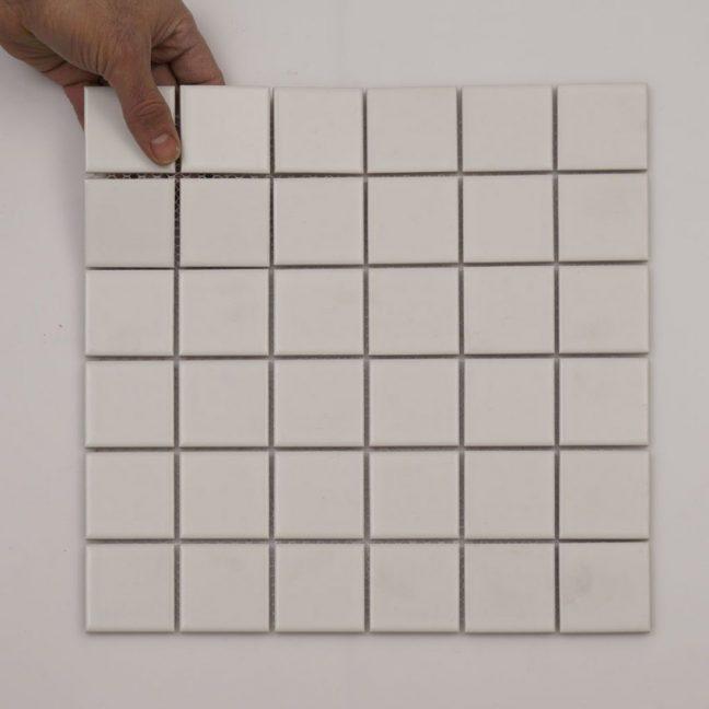 Mosaik White matt 30,3X30,3