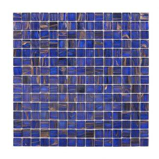 Glasmosaik Blue Gold