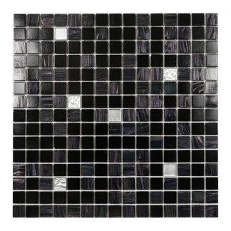 Glasmosaik Metall Brun/Svart