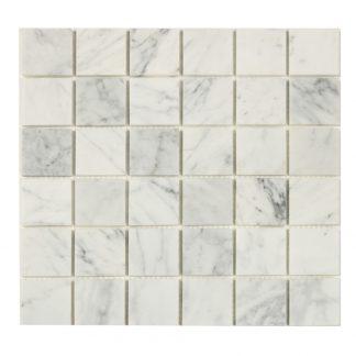 Mosaik White Marble Grey 30X30