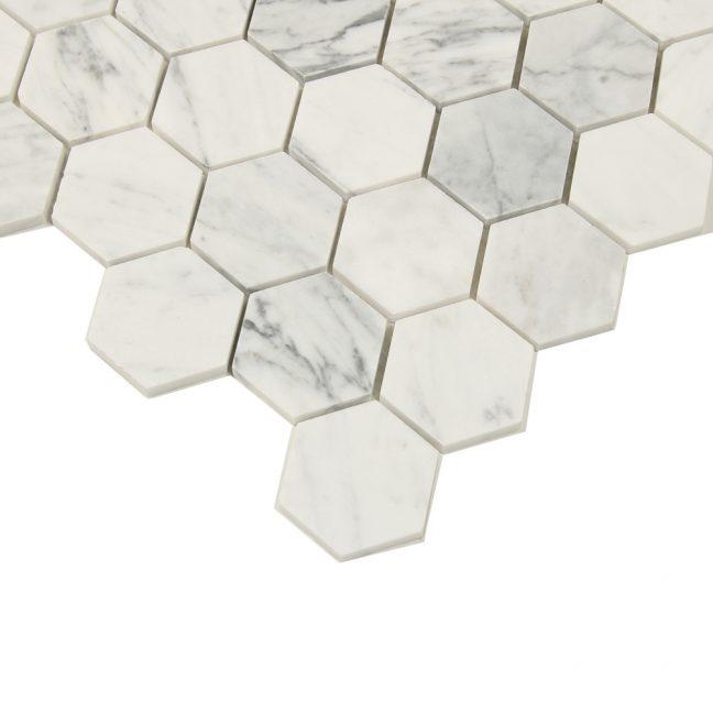 Mosaik White Marble Hexagon 30X30