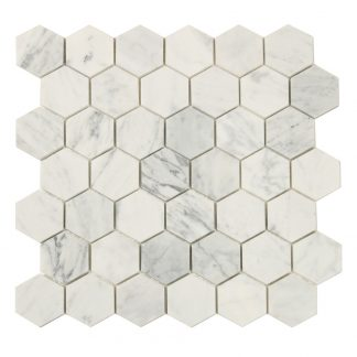 Mosaik White Marble Hexagon 30X30