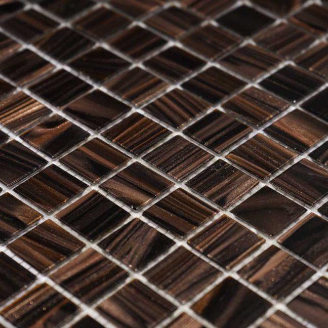 Glasmosaik Brun guld 32,7X32,7
