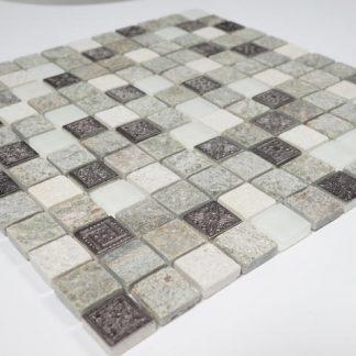 Kristallmosaik Inka Mix Grey Stone