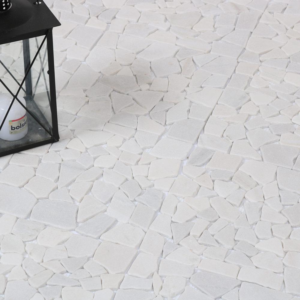 Naturstein Weiß Mosaik 30, 5 X 30, 5