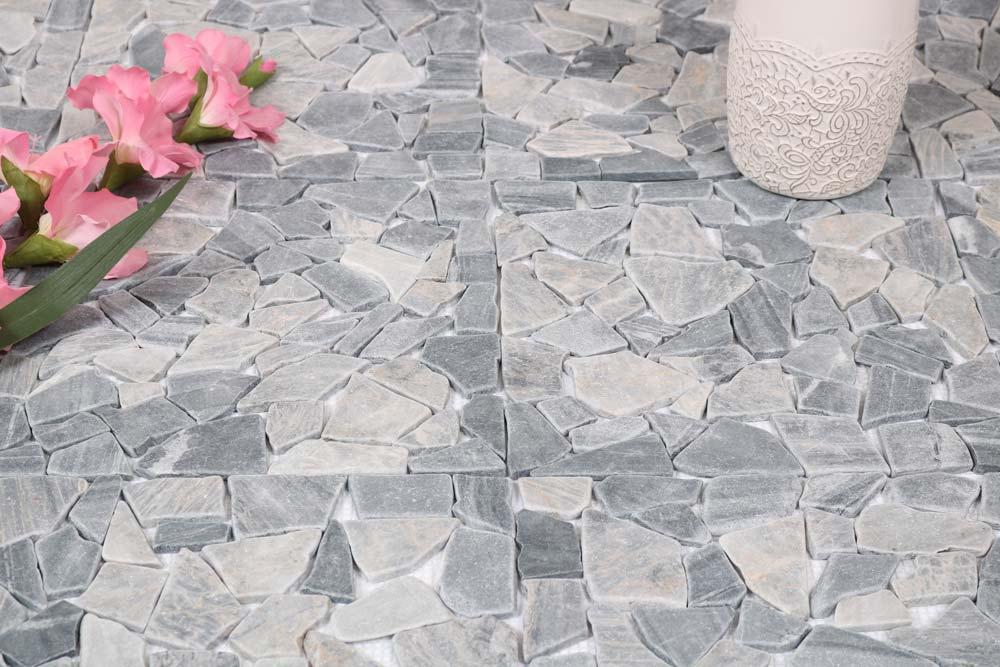 Naturstein Mosaik Grau Mix 30, 5 X 30, 5